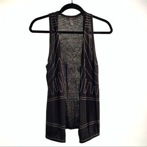 Dex Black Chained Vest